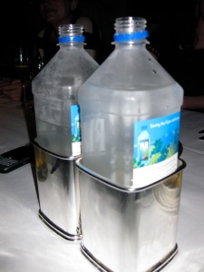 two sterling silver fiji water holders