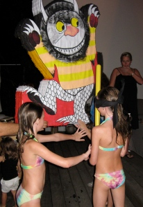 kiki and leila and wild thing pinata